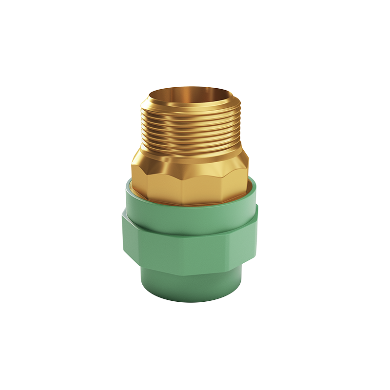 Male Threaded Brass insert Adaptor Coupling with brass nut